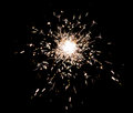 Firework sparkler splash on black isolated background Royalty Free Stock Photos