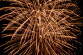 Firework trails in the sky Royalty Free Stock Photo