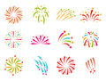 Firework vector illustration celebration holiday event night explosion light festive party Royalty Free Stock Photo