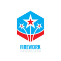 Firework - vector logo template concept illustration. Abstract stars creative sign. Design graphic element