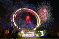 Firework in Vienna Prater Royalty Free Stock Photo