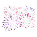 Firework on white background. Vector illustration.
