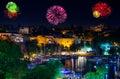 Fireworks in Antalya Turkey Royalty Free Stock Photo