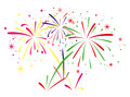 Fireworks background abstract anniversary colorful Royalty Free Stock Photos