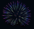 Fireworks Background Christmas Stock Photo