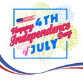 Fireworks background for USA Independence Day. Fourth of July celebrate Royalty Free Stock Photo