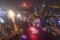 Fireworks in bangkok during new year Royalty Free Stock Photos