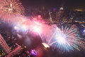 Fireworks in bangkok for new year Royalty Free Stock Image