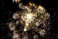 Fireworks beautiful over night sky Stock Image