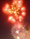 Fireworks beautiful on the sky sunset holyday Royalty Free Stock Photography