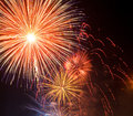 Fireworks beautiful on the sky sunset holyday Royalty Free Stock Photo