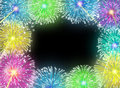 Fireworks blank frame Royalty Free Stock Photography