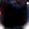 Fireworks border Royalty Free Stock Photo