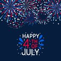 Fireworks border for Independence day Royalty Free Stock Photo