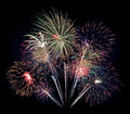 Fireworks bouquet th of july celebration in the united states Royalty Free Stock Photo