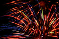 Fireworks bright colors on black sky background Royalty Free Stock Image