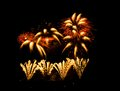 Fireworks bright colourful at night Stock Image