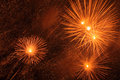 Fireworks bright in night sky Royalty Free Stock Photo