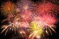 Fireworks bursting Royalty Free Stock Photo