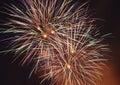 Fireworks canada day in calgary alberta canada Royalty Free Stock Image
