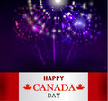 Fireworks and Canada flag