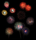 Fireworks Celebration Compilation Royalty Free Stock Photo