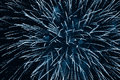 Fireworks cerulean brilliant in blue light up the night sky Royalty Free Stock Photography