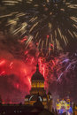 Fireworks in cluj napoca romania december st beautiful show takes place avram iancu square with the ocassion of the Royalty Free Stock Photos