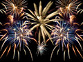 A fireworks collage Royalty Free Stock Photo