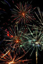 Fireworks colorful on a black sky Royalty Free Stock Images