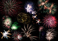 Fireworks colorful collage for new year Royalty Free Stock Photography