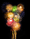 Fireworks Composition Royalty Free Stock Image