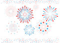 Fireworks and confetti isolated Royalty Free Stock Photo