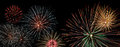 Fireworks display banner Royalty Free Stock Photo