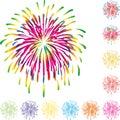 Fireworks, Explosion in Color, Fireworks Background