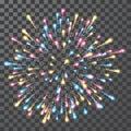 Fireworks. Festival colorful firework. Vector llustration on transparent background Royalty Free Stock Photo