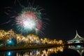 Fireworks at graden landmark happynewyear shutterb Royalty Free Stock Image