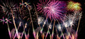 Fireworks great multicolored show with multiple colorful bursts high resolution Royalty Free Stock Image