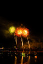 Fireworks on the han river da nang vietnam Royalty Free Stock Photos