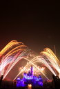 Fireworks at hong kong disneyland firework show Royalty Free Stock Photo