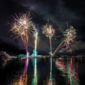 Fireworks in Iceland Royalty Free Stock Photos