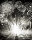 Fireworks image it is a monochrome of Stock Photography