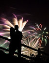 Fireworks Kiss Stock Photography