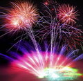 Fireworks, Lasers and Smoke Royalty Free Stock Photo