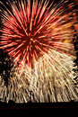 Fireworks Lights Explosions red white blue Royalty Free Stock Photo