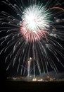 Fireworks at a local festival Royalty Free Stock Image