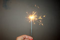 Fireworks New Year holidays sparkler  fire Royalty Free Stock Photo
