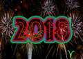Fireworks 2018 New Years Eve concept Royalty Free Stock Photo