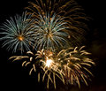 Fireworks nicht celebration day Royalty Free Stock Photography