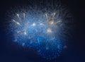 Fireworks In Night Dark Sky